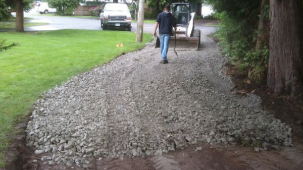 Gravel shredding and pools