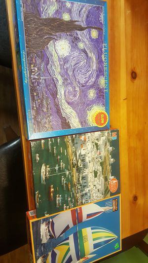 Three 1000 piece Jigsaw puzzles for Sale in Metamora, IL