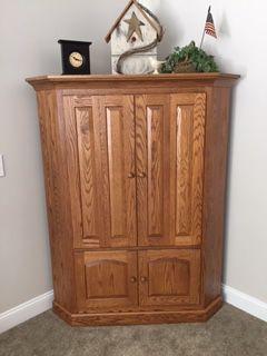 Solid Oak Corner Cabinet for Sale in Westerville, OH