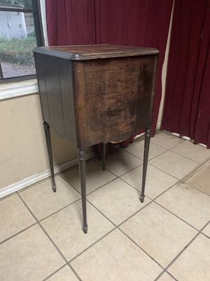 Antique wood desk/ filing cabinet for Sale in Wichita Falls, TX