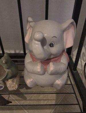 "Ceramic ""Dumbo"" Elephant Cookie Jar for Sale in Avondale, AZ"