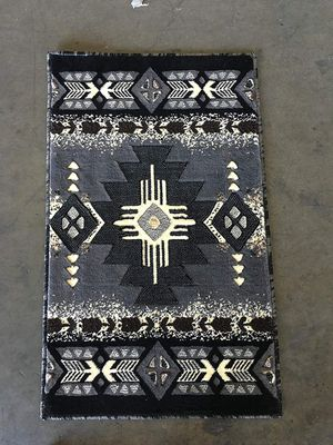 Grey color door mat size area rug brand new native design for Sale in Salem, OR