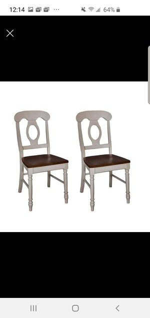 2 white farmhouse chairs for Sale in Georgetown, KY