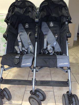 Maclaren® Twin Triumph Double Stroller in Black/Charcoal for Sale in Brooklyn, NY
