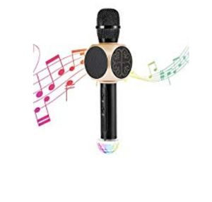 Bluetooth Wireless Karaoke Microphone with USB Disco Ball Light and Phone Holder, Archeer 3-in-1 Portable Home Party KTV Handheld Microphone Singing M for Sale in Silver Spring, MD