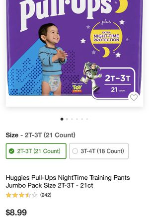 Huggies pull up boys diaper 2t-3t and 3t-4t for Sale in Parsippany-Troy Hills, NJ