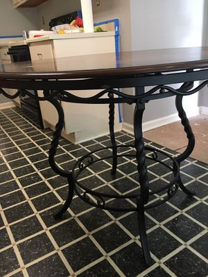 Beautiful wrought iron kitchen table for Sale in Marietta, GA