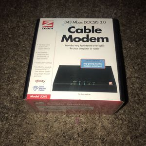 Zoom 343 Mbps DOCSIS 3.0 Cable Modem for Sale in Galloway, OH