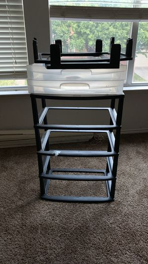 Plastic shelves come with drawers for Sale in Plano, TX