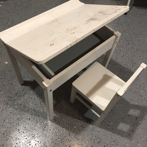 Kids IKEA Desk With Storage And Chair for Sale in Manhattan Beach, CA