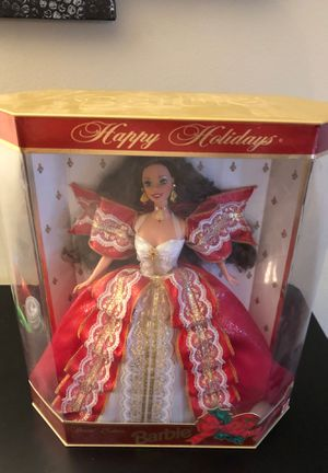 Barbie doll 1997 happy holiday 10th anniversary (green eyes) for Sale in Mayfield Heights, OH