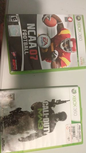 Call of duty mw3,NCAA 7 football for Sale in Mason City, IA