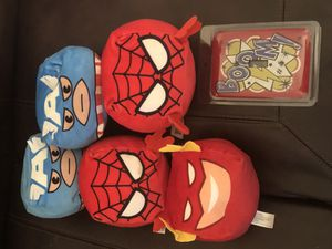 Super hero light switch cover and stuffed super heroes for Sale in Spring, TX