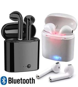 2019 BLUETOOTH WIRELESS EARBUDS COMPATIBLE W/ APPLE & ANDROID ( WHITE ) BRAND NEW PRICE FIRM READ⬇️ for Sale in Las Vegas, NV