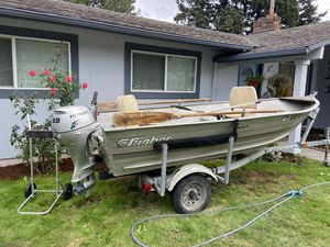 12 ft Aluminum boat for Sale in Gresham, OR