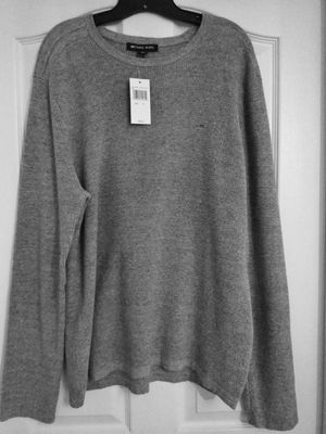 Brand New Heather Grey Signature Michael Kors Sweater (Retails $98.00) XL for Sale in Orlando, FL