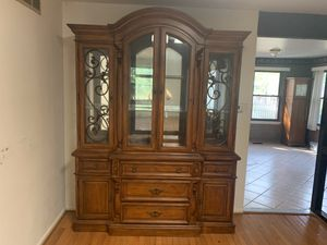 FREE SOLID WOOD CHINA CABINET MUST PICK UP BY 10/13 for Sale in Medford, NJ