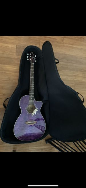 New - Luna Flora Passion Flower Acoustic Electric Guitar Purple for Sale in Great Neck, NY