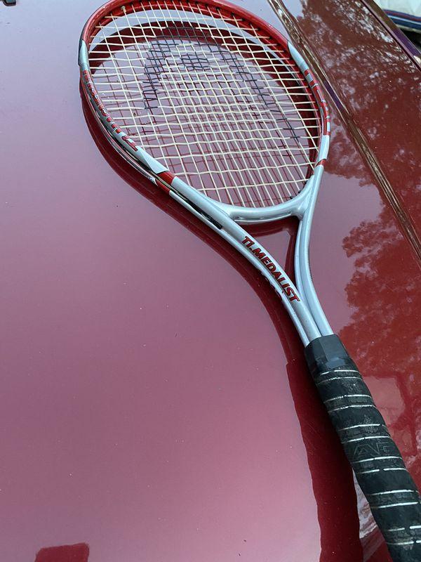 Head TI medalist 1013 oversize TI magnesium tennis racket 4 1/4 inch grip