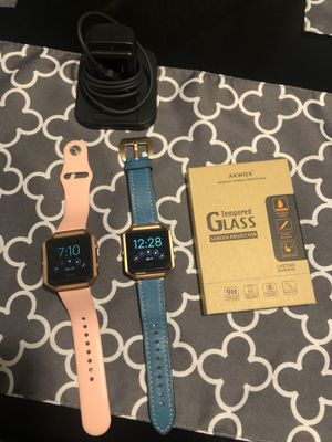 Fitbit Blaze (2) screen protectors and charger for Sale in Renton, WA