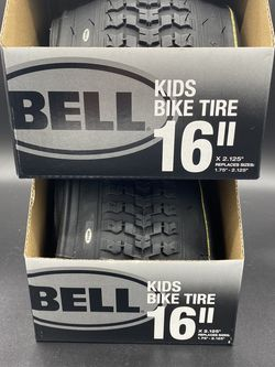 "Two NEW Bell Kids Bike Tire (2X) 16"" X 2.125"" Replaces Sizes:1.75""-2.125"" Black for Sale in Peoria,  IL"