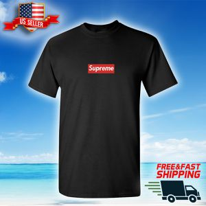 Supreme Box Logo Black T-Shirt - Custom made - SAME DAY SHIPPING for Sale in SUNNY ISL BCH, FL