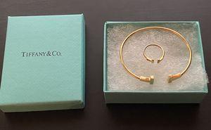 Tiffany's T bracelet & ring set for Sale in Atlanta, GA