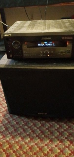 Sony Audio Reciever and sony subwoofer sounds great for Sale in Wichita, KS