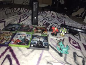 Xbox 360 (6 games in total) (INFINITY PAD + 3 Characters) & (KINECT +1 game) for Sale in Fresno, CA