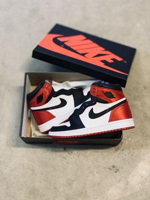 "Air Jordan 1 W ""Satin Black toe"" size 8.5w for Sale in Seattle, WA"
