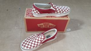 Red and white checkers vans for Sale in Tampa, FL