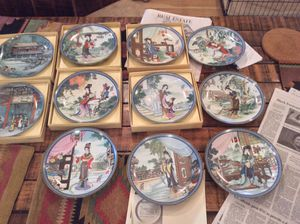 Chinese porcelain collector plates-14 total for Sale in Rockville, MD