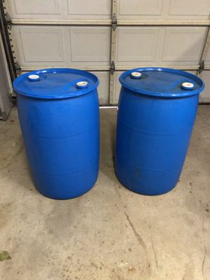 55 gallon blue plastic drums for Sale in Delaware, OH