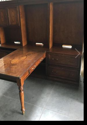 Beautiful 2 person desk with shelves and file cabinet for Sale in Henderson, NV