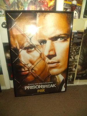 Huge framed prison break poster for Sale in Tulsa, OK
