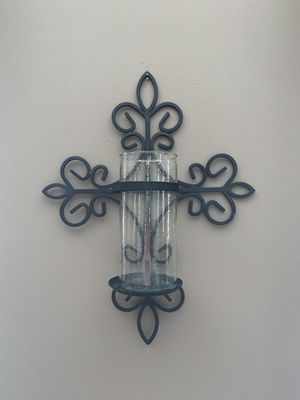 Southern living at home Cross wall candle holder for Sale in West Chicago, IL