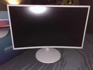"""Samsung Curved 1920x1080 HDMI VGA Monitor, White, 27"""" for Sale in Miami, FL"""