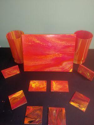 Orange acrylic pour set😍 for Sale in La Vergne, TN