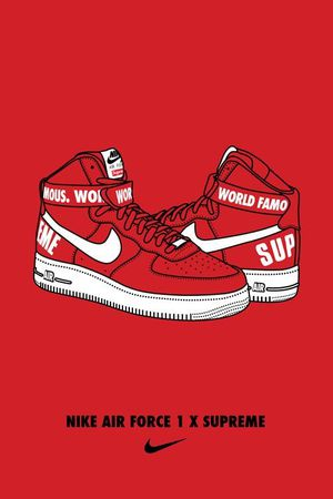 AIR JORDANS 1 SNEAKERS SUPREME ART PRINT POSTER for Sale in Yeadon, PA