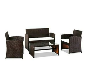 Outdoor/ Patio Furniture (4pc) PE Rattan Set Garden Lawn Sofa Wicker for Sale in Hidden Hills, CA