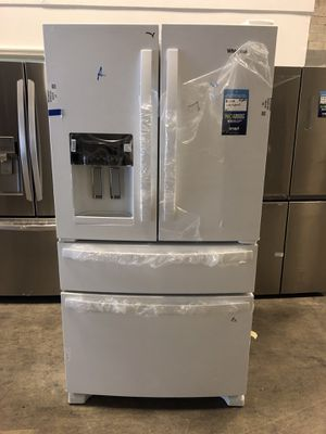 Whirlpool-24.5 cu. Ft. 4 Door French Door Refrigerator take home for $39 EZ financing available with 1 year warranty for Sale in Miami, FL