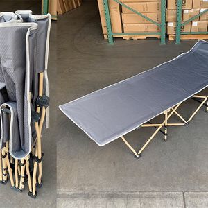 "New $50 Folding Cot Camping Bed Collapsible w/ Carrying Bag Outdoor 75""x27"" (Max 300lbs) for Sale in Whittier, CA"