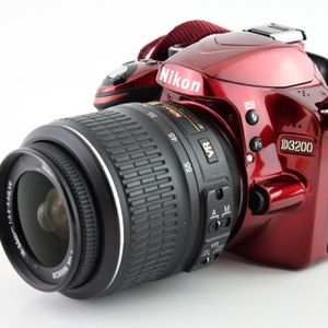 Excellent Condition Red Nikon D3200 DSLR Camera With Camera Bag & SD Card for Sale in Ellicott City, MD