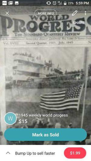 1945 weekly world progress for Sale in Kingsport, TN