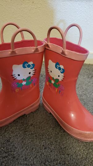 Toddler girl size 8 hello kitty rain boots for Sale in Stockton, CA