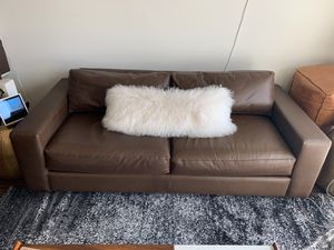 "West elm Urban Leather Sofa cocoa 84.5"" for Sale in San Francisco, CA"