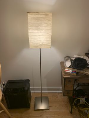 Nice standing lamp with paper shade for Sale in Seattle, WA