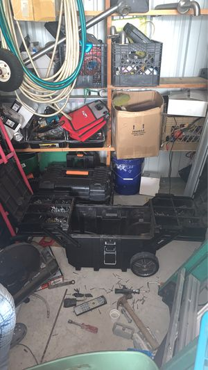 Husky tool box with screws for Sale in Jackson Township, NJ