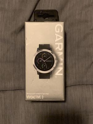 Garmin - vivoactive 3 Smartwatch - Stainless steel 16gb 30mm 164 foot water res for Sale in Doral, FL
