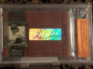Numbered to only 10 in the world Nolan Ryan sharp and clean auto signed and encased for preservation DRV investment gold trout psa sgc bgs bvg cross for Sale in Orange, CA